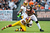 Wide receiver Greg Little #15 of the Cleveland Browns is tackled by cornerback Josh Wilson #26 of the Washington Redskins during the first half at Cleveland Browns Stadium on December 16, 2012 in Cleveland, Ohio. (Photo by Jason Miller/Getty Images)