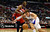 Blake Griffin of the Los Angeles Clippers (R) vies for the ball with Kevin Seraphin of the Washington Wizards (#42) during their NBA game in Los Angeles on January 19, 2013.  FREDERIC J. BROWN/AFP/Getty Images