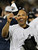 New York Yankees' Mariano Rivera holds up a World Champion cap after winning the Major League Baseball World Series against the Philadelphia Phillies Wednesday, Nov. 4, 2009, in New York. (AP Photo/David J. Phillip)
