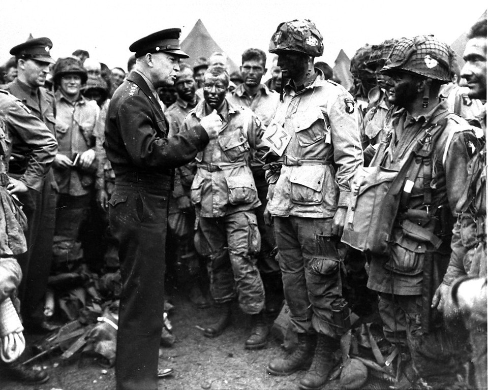 Description of . General Dwight D. Eisenhower gives the order of the day,