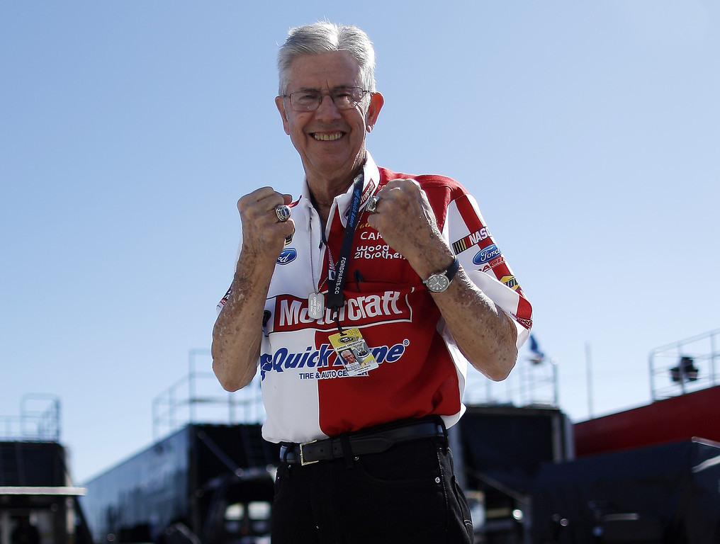 . DAYTONA BEACH, FL - FEBRUARY 20:  Team owner and NASCAR Hall of Famer Leonard Wood poses in the garage area during practice for the NASCAR Sprint Cup Series Daytona 500 at Daytona International Speedway on February 20, 2013 in Daytona Beach, Florida.  (Photo by Chris Graythen/Getty Images)