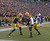 Randall Cobb #18 of the Green Bay Packers (L) celebrates a touchdown catch with Greg Jennings #85 against the Tennessee Titans at Lambeau Field on December 23, 2012 in Green Bay, Wisconsin. The Packers defeated the Titans 55-7. (Photo by Jonathan Daniel/Getty Images)