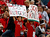 Fans of the Rutgers Scarlet Knights show their signs against the Virginia Tech Hokies during the Russell Athletic Bowl Game at the Florida Citrus Bowl on December 28, 2012 in Orlando, Florida.  (Photo by J. Meric/Getty Images)