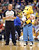 DENVER, CO. - FEBRUARY 01: Denver Nuggets mascot Rocky, right, takes care of a young fan during the 2nd half of the game against New Orleans Hornets  on February 1, 2013 at the Pepsi Center in Denver, Colorado. Denver won 113-98. (Photo By Hyoung Chang/The Denver Post)