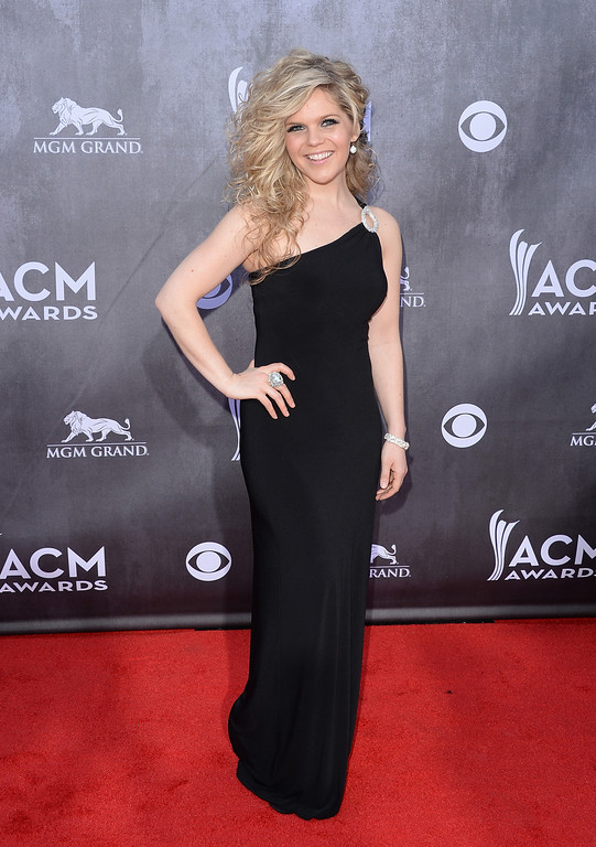 Description of . Singer Natalie Stovall attends the 49th Annual Academy Of Country Music Awards at the MGM Grand Garden Arena on April 6, 2014 in Las Vegas, Nevada.  (Photo by Jason Merritt/Getty Images)