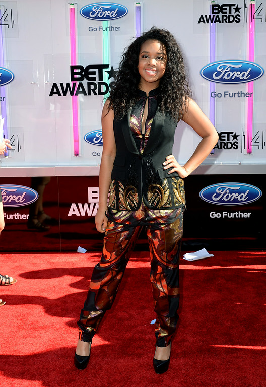 Description of . Singer Gabi Wilson attends the BET AWARDS '14 at Nokia Theatre L.A. LIVE on June 29, 2014 in Los Angeles, California.  (Photo by Earl Gibson III/Getty Images for BET)