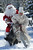 Picture taken on February 24, 2008 shows a Santa Claus riding a yak at an international coalition of Santa Clauses 400 km from Bishkek in the town Karakol. Santa Clauses arrived from Russia, Iran, Kyrgyzstan, Kazakhstan and Denmark to particpate in the first ever