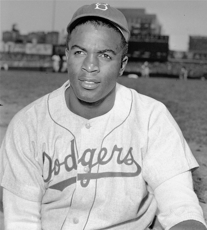 Description of . Brooklyn Dodgers\' infielder Jackie Robinson is shown in this April 18, 1948 file photo. (AP Photo)