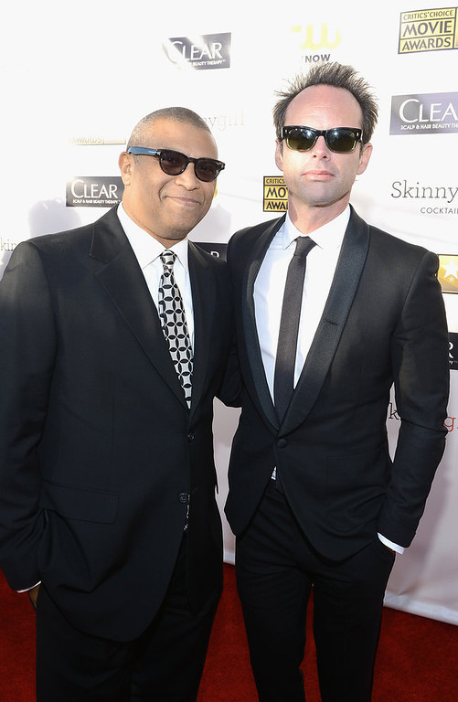 Description of . Producer Reginald Hudlin and actor Walton Goggins attends the 18th Annual Critics' Choice Movie Awards held at Barker Hangar on January 10, 2013 in Santa Monica, California.  (Photo by Larry Busacca/Getty Images for BFCA)