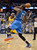 DENVER, CO. - JANUARY 20: Denver Nuggets point guard Ty Lawson (3) knocks the ball the hands of Oklahoma City Thunder small forward Kevin Durant (35) during an inbound pass late in the fourth quarter January 20,  2013 at Pepsi Center. The Denver Nuggets defeated the Oklahoma City Thunder 121-118.  (Photo By John Leyba / The Denver Post)