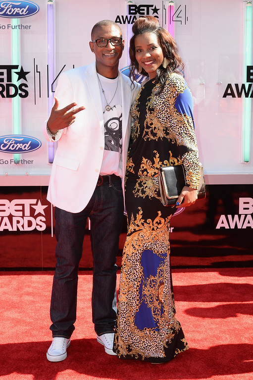 Description of . Actor Tommy Davidson (L) and Jillian Davidson attend the BET AWARDS '14 at Nokia Theatre L.A. LIVE on June 29, 2014 in Los Angeles, California.  (Photo by Earl Gibson III/Getty Images for BET)