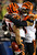 Dan Herron #34 of the Cincinnati Bengals is congratulated by teammates Taylor Mays #27 after Herron recovered a fumble from his blocked punt in the first quarter against the Philadelphia Eagles on December 13, 2012 at Lincoln Financial Field in Philadelphia, Pennsylvania.  (Photo by Elsa/Getty Images)