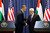 U.S. President Barack Obama and Palestinian President Mahmoud Abbas shake hands during a joint news conference at the Muqata Presidential Compound, Thursday, March 21, 2013, in the West Bank town of Ramallah. (AP Photo/Carolyn Kaster)