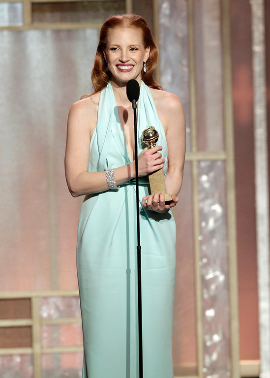 Description of . Best Actress in a Motion Picture - Drama: Jessica Chastain, Zero Dark Thirty