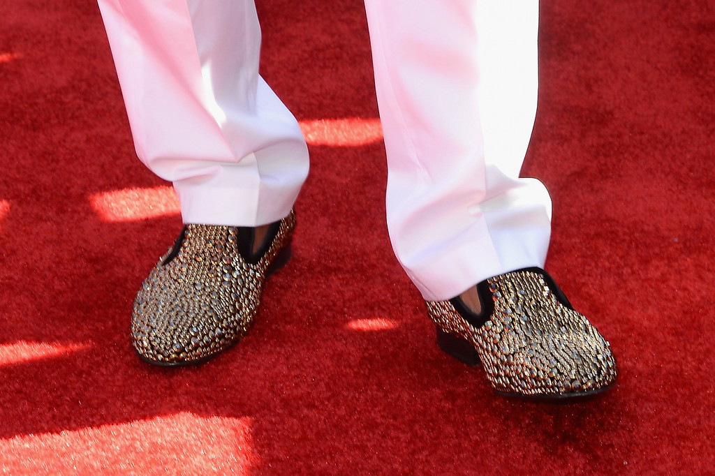 Description of . Rapper Nelly (shoe detail) attends the BET AWARDS '14 at Nokia Theatre L.A. LIVE on June 29, 2014 in Los Angeles, California.  (Photo by Earl Gibson III/Getty Images for BET)
