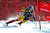 Erik Guay of Canda skis past a gate in the men's World Cup downhill ski race in Beaver Creek, Colorado, November 30, 2012. Guay finished 15th in the race.   REUTERS/Mike Segar