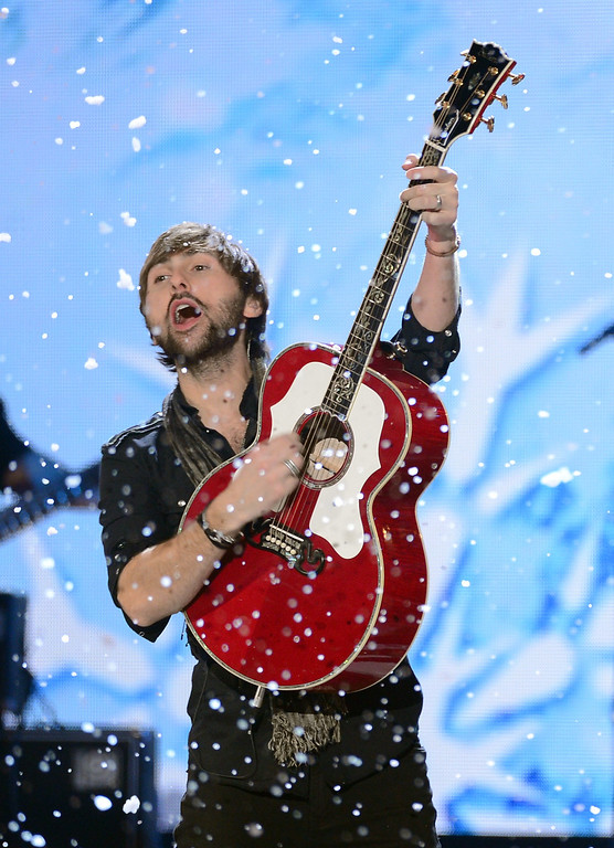 Description of . LAS VEGAS, NV - DECEMBER 10:  Musician Dave Haywood of Lady Antebellum performs onstage during the 2012 American Country Awards at the Mandalay Bay Events Center on December 10, 2012 in Las Vegas, Nevada.  (Photo by Mark Davis/Getty Images)