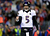 Joe Flacco #5 of the Baltimore Ravens celebrates after a touchdown ran by Ray Rice #27 in the second quarter against the New England Patriots during the 2013 AFC Championship game at Gillette Stadium on January 20, 2013 in Foxboro, Massachusetts.  (Photo by Al Bello/Getty Images)