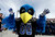 The Air Force mascot posses for a photo during the second half of the Armed Forces Bowl NCAA college football game against Rice, Saturday, Dec. 29, 2012, in Fort Worth, Texas. Rice won 33-14. (AP Photo/LM Otero)