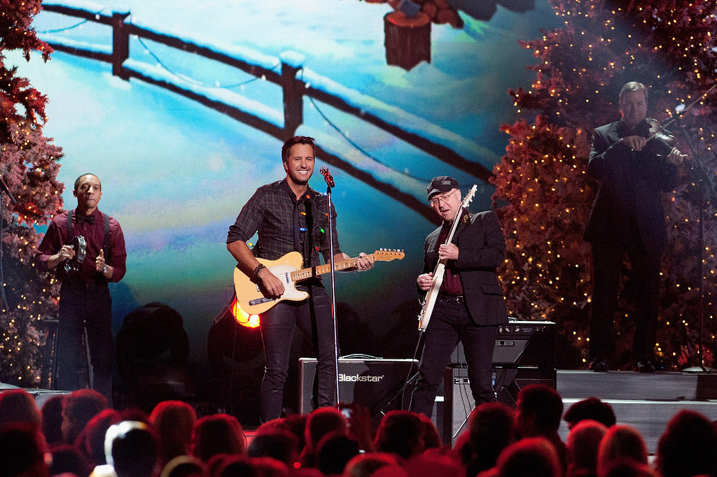 Description of . Luke Bryan performs during the CMA 2013 Country Christmas on November 8, 2013 in Nashville, Tennessee.  (Photo by Erika Goldring/Getty Images)