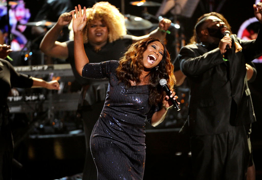 Description of . Yolanda Adams performs at the BET Awards at the Nokia Theatre on Sunday, June 29, 2014, in Los Angeles. (Photo by Chris Pizzello/Invision/AP)