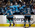 San Jose Sharks center Patrick Marleau (12) is high-fived by teammates after his second goal of the first period of an NHL hockey game against the Colorado Avalanche in San Jose, Calif., Saturday, Jan. 26, 2013. (AP Photo/Marcio Jose Sanchez)