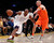Los Angeles Lakers' Kobe Bryant (L) drives around New York Knicks' Jason Kidd (R) during the second half of their NBA basketball game in Los Angeles December 25, 2012. REUTERS/Danny Moloshok