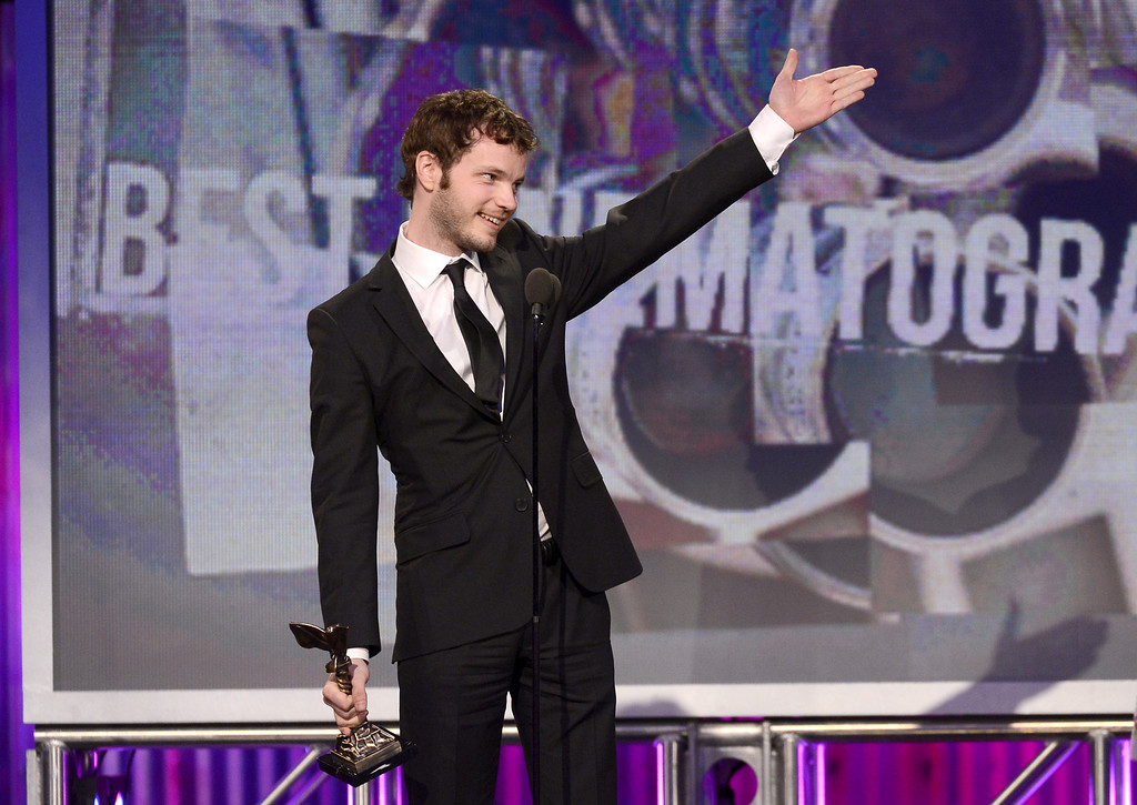 Description of . SANTA MONICA, CA - FEBRUARY 23:  Ben Richardson accepts the award for Best Cinematography onstage during the 2013 Film Independent Spirit Awards at Santa Monica Beach on February 23, 2013 in Santa Monica, California.  (Photo by Kevork Djansezian/Getty Images)