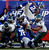 New York Giants' David Wilson, top right, is upended by Philadelphia Eagles' Cullen Jenkins (97) on the goal line during the first half of their NFL football game, Sunday, Dec. 30, 2012, in East Rutherford, N.J. The Giants won 42-7. (AP Photo/The Philadelphia Inquirer, Ron Cortes)