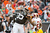 Running back Trent Richardson #33 of the Cleveland Browns celebrates after scoring against the Washington Redskins during the first half at Cleveland Browns Stadium on December 16, 2012 in Cleveland, Ohio. (Photo by Jason Miller/Getty Images)