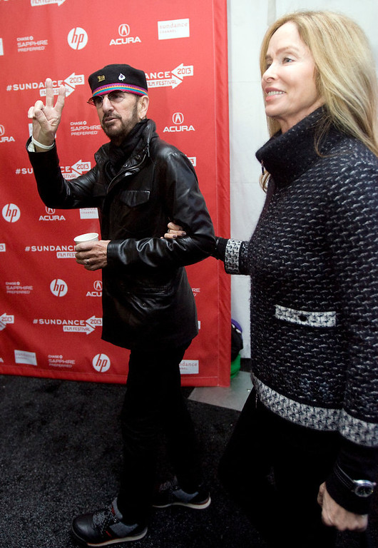 Description of . Kim Raff  |  The Salt Lake Tribune Ringo Starr is photographed with his wife Barbara Bach on the red carpet for the premiere of