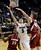 University of Colorado's Eli Stalzer gets his shot blocked by John Gage, No. 40, during a game against Stanford on Thursday, Jan. 24, at the Coors Event Center on the CU campus in Boulder. Jeremy Papasso/ Camera