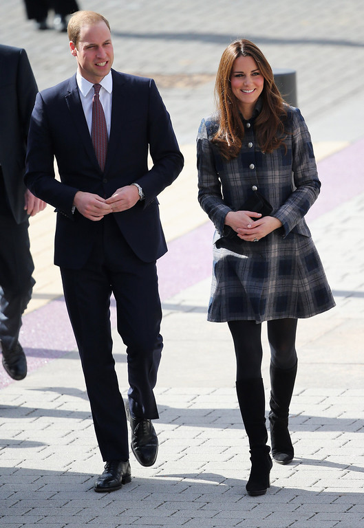 Description of . Prince William, Earl of Strahearn and Catherine, Countess of Strathearn visit the Emirates Arena on April 4, 2013 in Glasgow, Scotland. The Emirates Arena will play host to several events at the 2014 Glasgow Commonwealth Games.  (Photo by Chris Jackson/Getty Images)