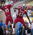 University of South Carolina's Bruce Ellington (R) celebrates his touchdown against the University of Michigan with teammate Damiere Byrd during the fourth quarter of their NCAA Outback Bowl game in Tampa, Florida January 1, 2013. REUTERS/Scott Audette