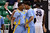 SALT LAKE CITY, UT - MARCH 21:  YonDarius Johnson #23 and Derick Beltran #2 of the Southern University Jaguars celebrate in the first half while taking on the Gonzaga Bulldogs during the second round of the 2013 NCAA Men's Basketball Tournament at EnergySolutions Arena on March 21, 2013 in Salt Lake City, Utah.  (Photo by Harry How/Getty Images)