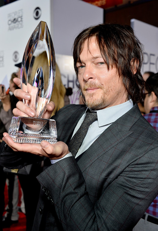 Description of . LOS ANGELES, CA - JANUARY 08:  Actor Norman Reedus attends The 40th Annual People's Choice Awards at Nokia Theatre L.A. Live on January 8, 2014 in Los Angeles, California.  (Photo by Frazer Harrison/Getty Images for The People's Choice Awards)