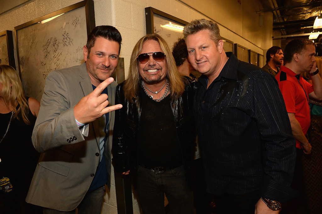 Description of . Jay DeMarcus, Vince Neil, and Gary LeVox attend the 2014 CMT Music Awards at Bridgestone Arena on June 4, 2014 in Nashville, Tennessee.  (Photo by Rick Diamond/Getty Images for CMT)