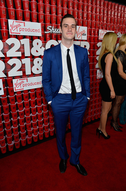 "Description of . Cooper Hefner attends Relativity Media\'s ""21 and Over\"" premiere at Westwood Village Theatre on February 21, 2013 in Westwood, California.  (Photo by Frazer Harrison/Getty Images for Relativity Media)"