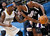 Sacramento Kings guard Tyreke Evans, right, protects the ball from Denver Nuggets guard Ty Lawson during the third quarter of the Nuggets' 121-93 victory in an NBA basketball game in Denver on Saturday, Jan. 26, 2013. (AP Photo/David Zalubowski)