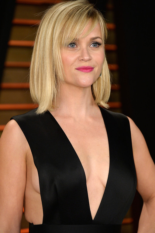 Description of . Actress Reese Witherspoon attends the 2014 Vanity Fair Oscar Party hosted by Graydon Carter on March 2, 2014 in West Hollywood, California.  (Photo by Pascal Le Segretain/Getty Images)