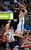 DENVER, CO. - JANUARY 30: Denver Nuggets small forward Danilo Gallinari (8) takes an off balance shot during the fourth quarter January 30, 2013 at Pepsi Center. Houston Rockets small forward Chandler Parsons (25) was called for a foul on the play. The Denver Nuggets take on the Houston Rockets in NBA action. (Photo By John Leyba/The Denver Post)