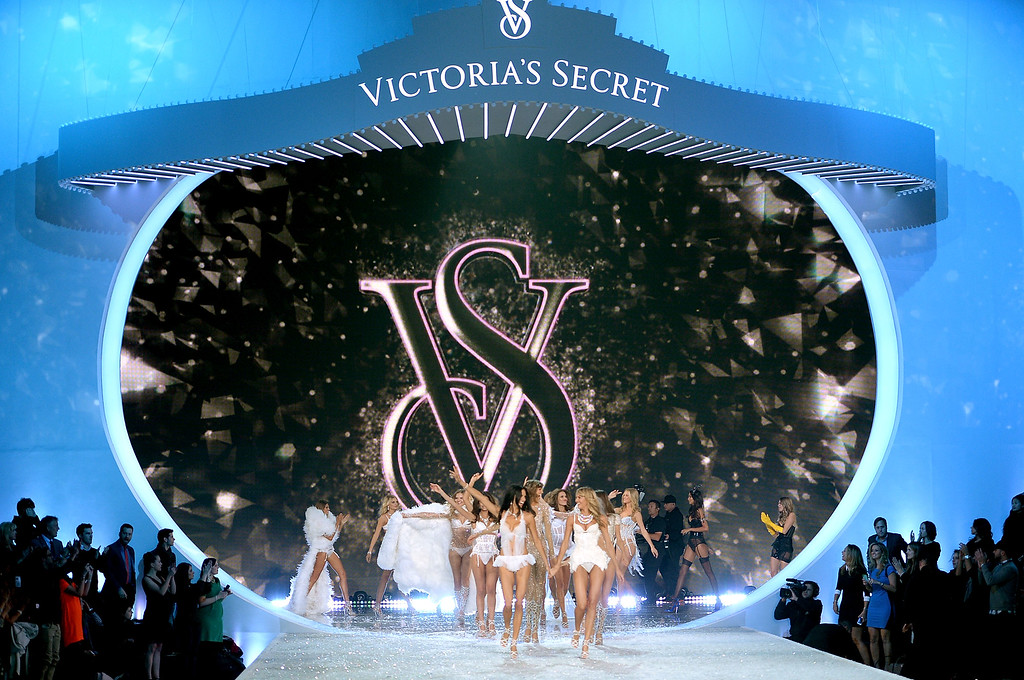 Description of . Models walk the runway at the 2013 Victoria's Secret Fashion Show at Lexington Avenue Armory on November 13, 2013 in New York City.  (Photo by Dimitrios Kambouris/Getty Images for Victoria's Secret)