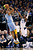 Denver Nuggets guard Andre Iguodala shoots against Dallas Mavericks guard O.J. Mayo during the first half of their NBA basketball game in Dallas, Texas December 28, 2012.  REUTERS/Mike Stone (UNITED STATES - Tags: SPORT BASKETBALL)