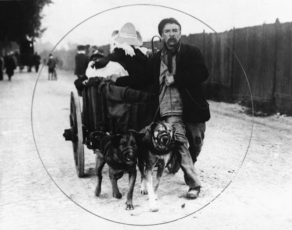 Description of . Refugees in Belgium during World War I in an undated photo. (AP Photo)