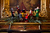 Figurines of carolers adorn a prized rolltop desk in the Governor's mansion library. Photo by Mark Broste