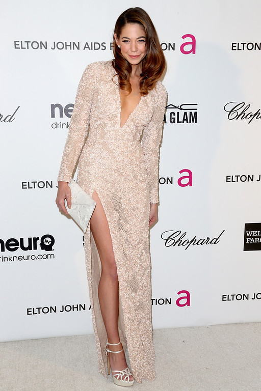 Description of . Actress Analeigh Tipton arrives at the 21st Annual Elton John AIDS Foundation's Oscar Viewing Party on February 24, 2013 in Los Angeles, California.  (Photo by Frederick M. Brown/Getty Images)