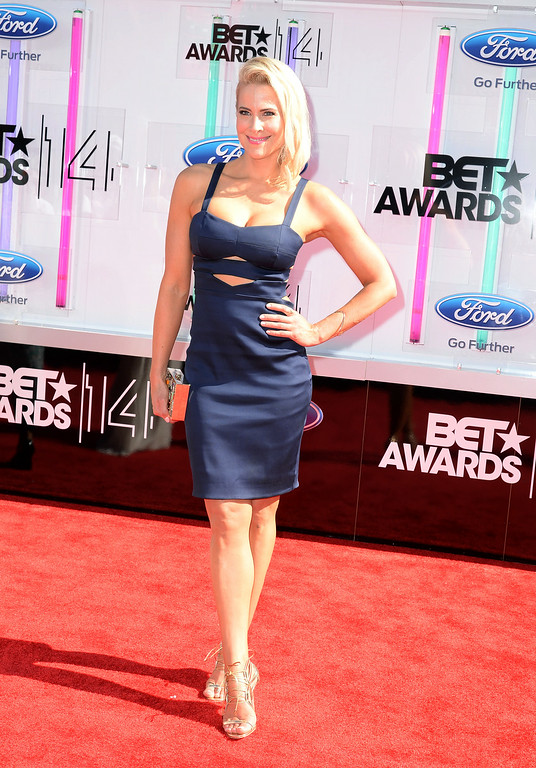 Description of . Actress Brittany Daniel attends the BET AWARDS '14 at Nokia Theatre L.A. LIVE on June 29, 2014 in Los Angeles, California.  (Photo by Earl Gibson III/Getty Images for BET)