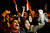 Protesters chant slogans during a demonstration in front of the presidential palace in Cairo, Egypt, Sunday, Dec. 9, 2012.  Egypt's liberal opposition called for more protests Sunday, seeking to keep up the momentum of its street campaign after the president made a partial concession overnight but refused its main demand he rescind a draft constitution going to a referendum on Dec. 15. (AP Photo/Petr David Josek)