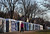 Portable bathrooms line the National Mall as preparations continue for the Presidential Inauguration  on January 20, 2013 in Washington, DC.  The US capital is preparing for the second inauguration of US President Barack Obama, which will take place on January 21.  (Photo by Joe Raedle/Getty Images)