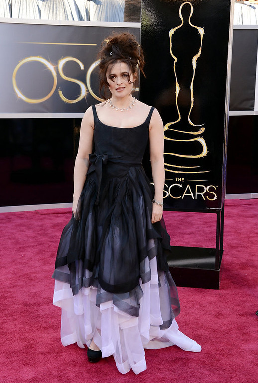 Description of . Actress Helena Bonham Carter arrives at the Oscars at Hollywood & Highland Center on February 24, 2013 in Hollywood, California.  (Photo by Jason Merritt/Getty Images)